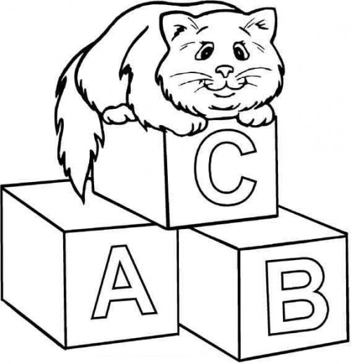 Coloring Pages Of Alphabet Blocks : Blocks coloring pages