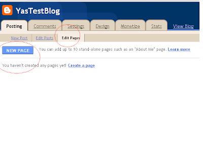 Cara buat pages kat bawah header ~Blogspot