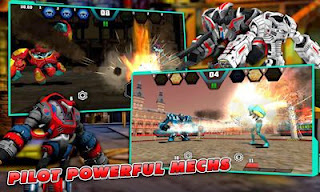 Screenshots of the Mechs vs Aliens for Android tablet, phone.