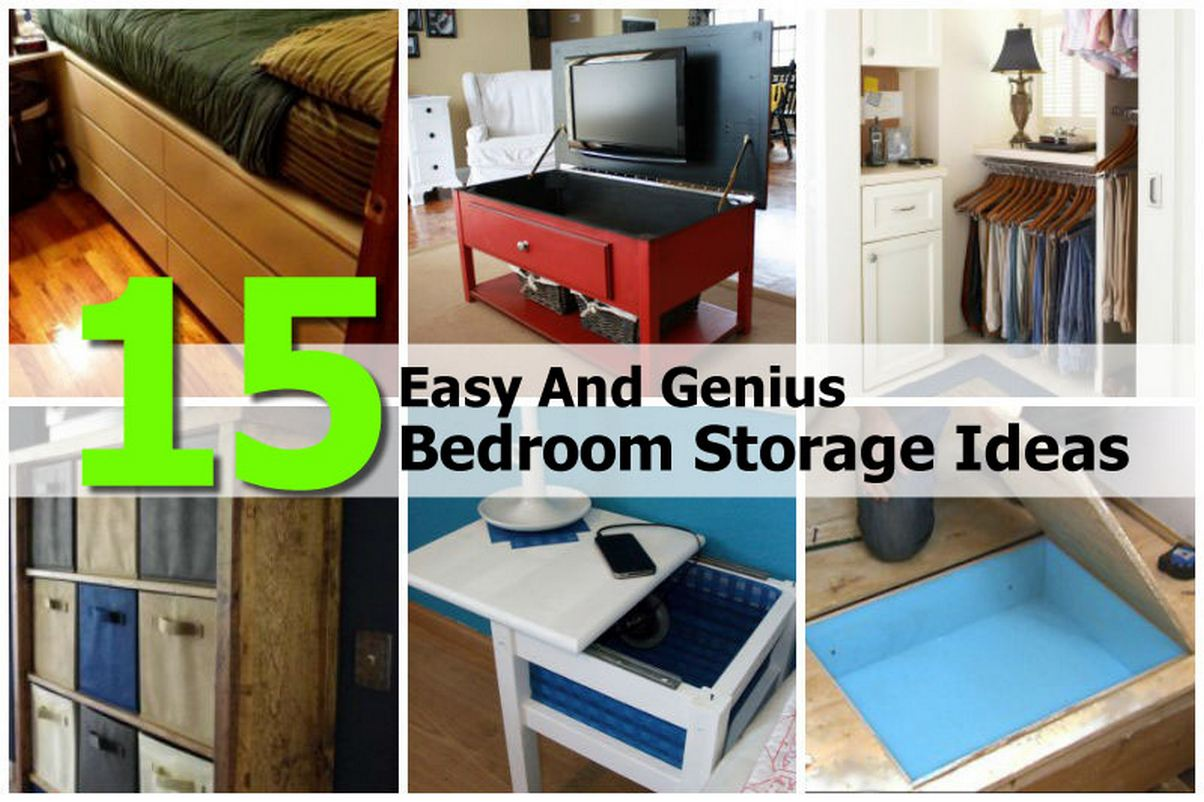 15 genius bedroom storage ideas idees and solutions for Bedroom organization ideas