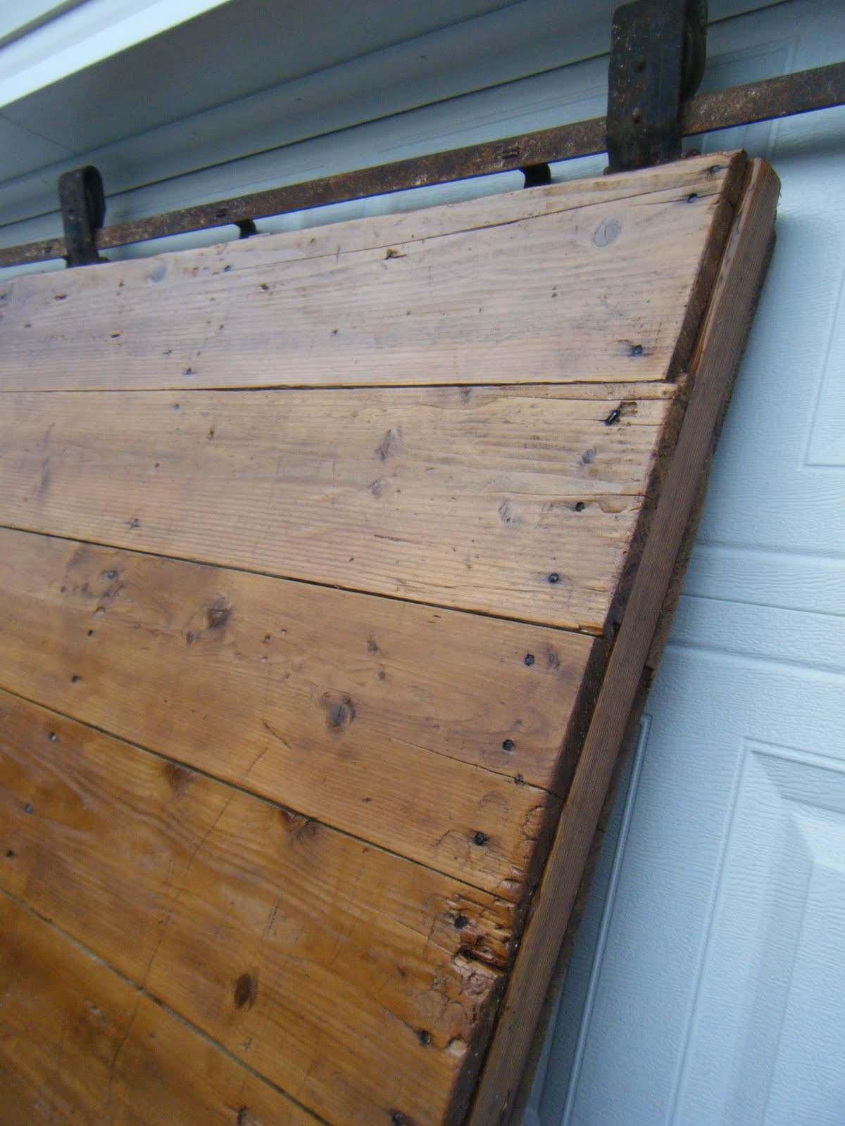 tattered lantern gorgeous barn door with flat track and