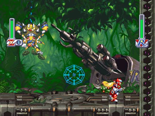 [Análise Retro Game] - Mega Man X4 - Saturn/Playstation Megaman+x4+zero+web+spider