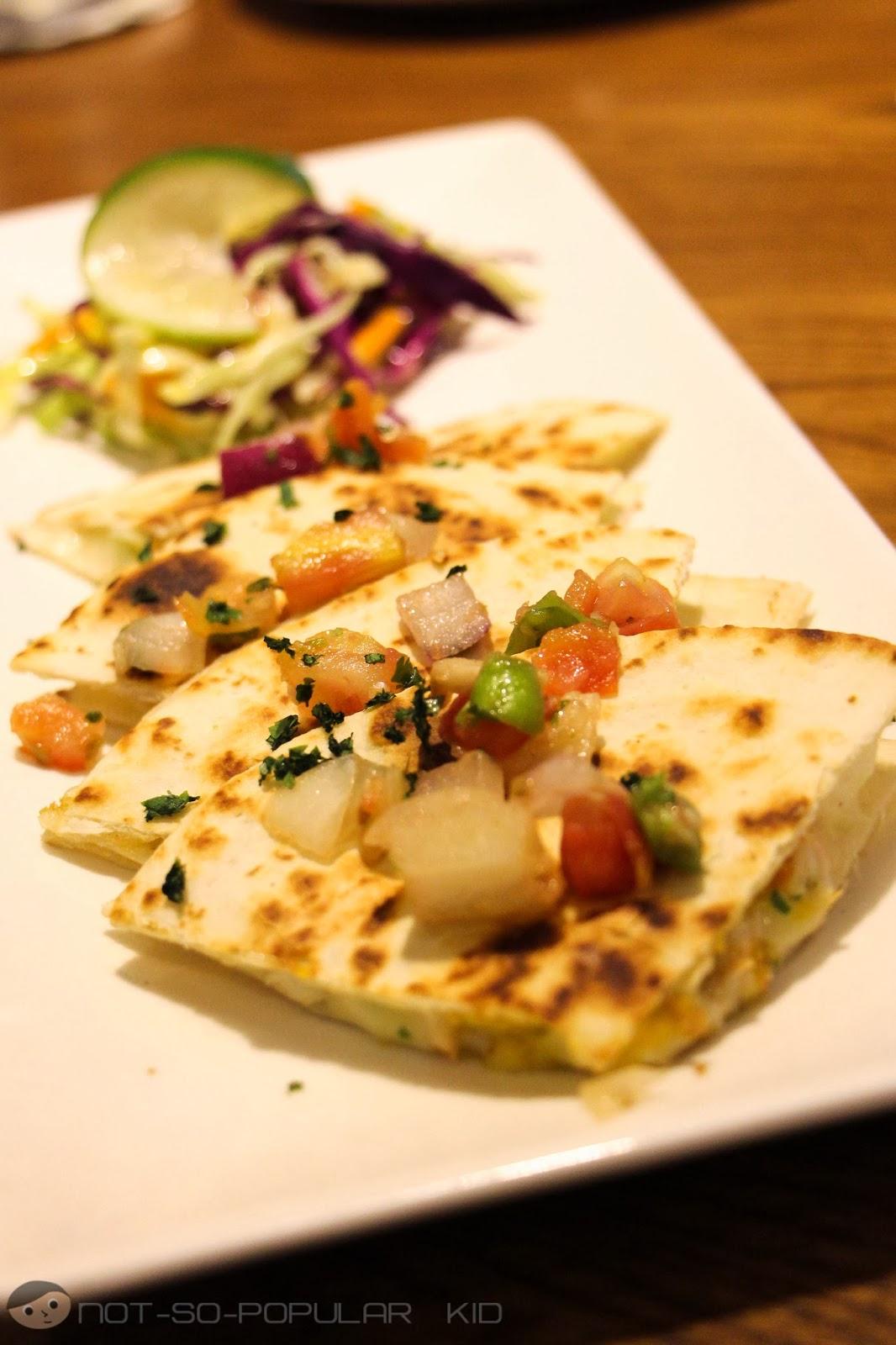 Shrimp Mango Quesadillas of TGI Fridays