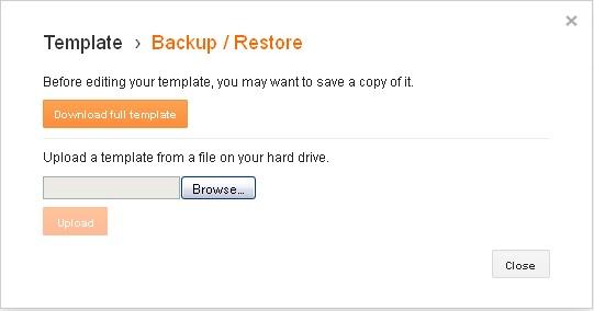 klik browse dan pilih file template yang sudah di extract