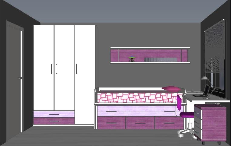 Macmobles ribes crta de ribes 252 08520 les franqueses for Disenar dormitorio juvenil 3d