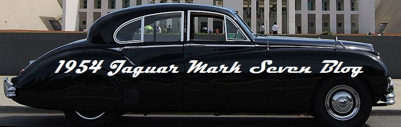 1954 Jaguar Mark VII Maintenance Blog