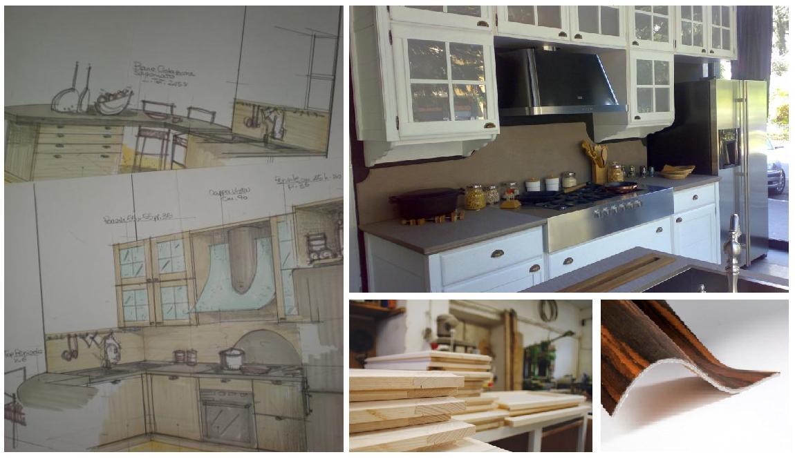 Disegno di mia progettazione, Cucina in rovere decapato bianco ...