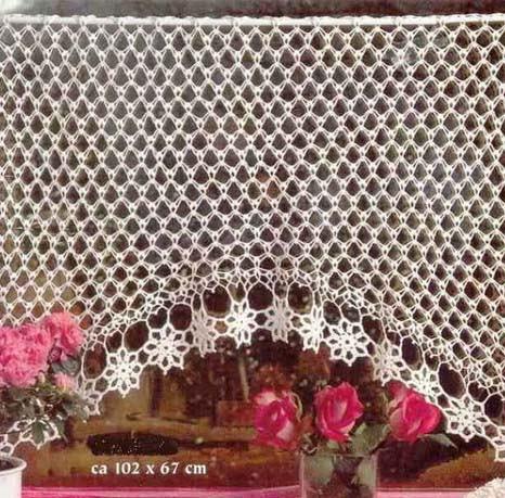 Marisabel crochet cortinas para cocina for Cortinas de gancho para cocina