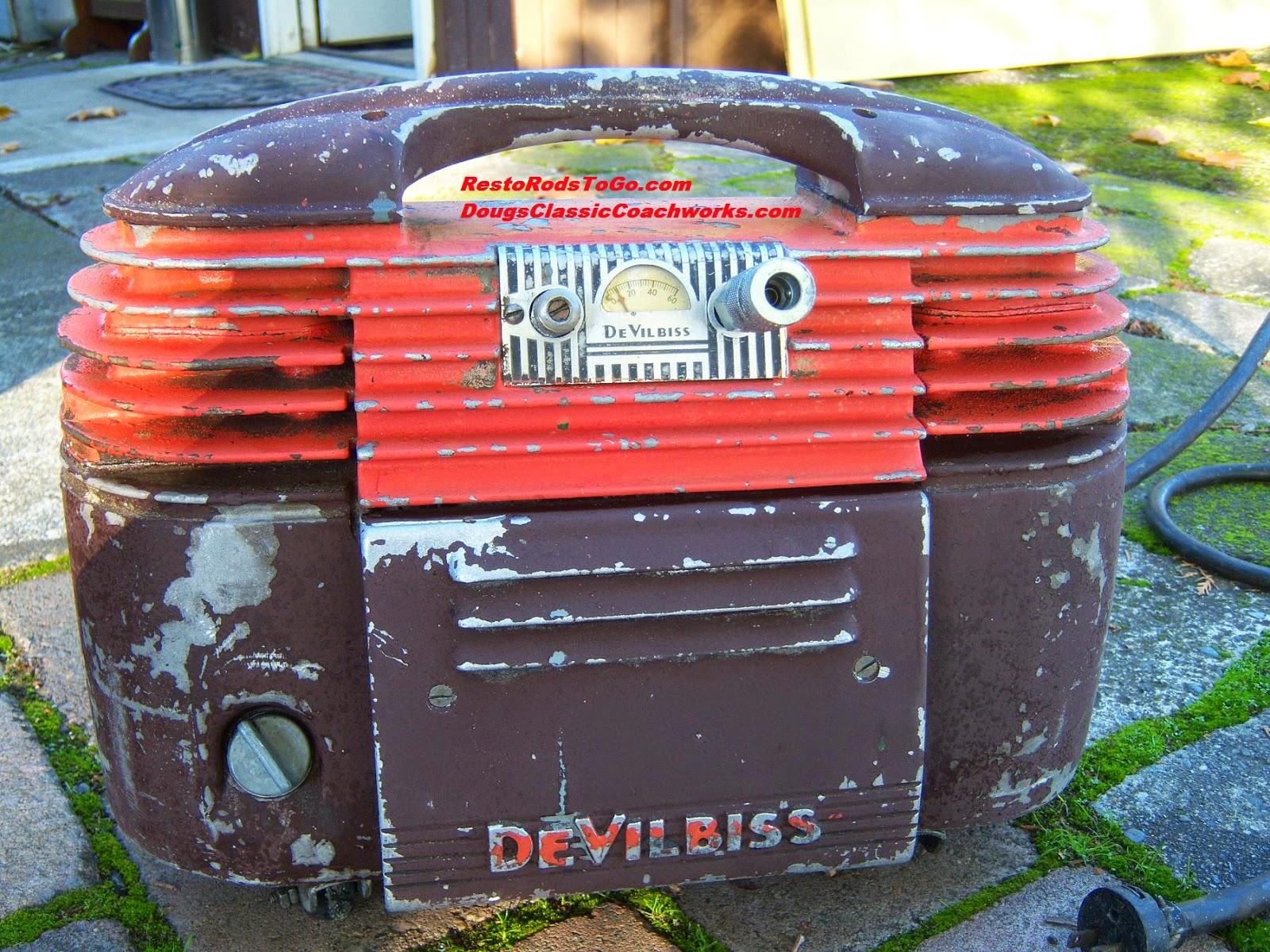 Vintage Art Deco DeVilbiss Air Compressor | Resto Rods To Go