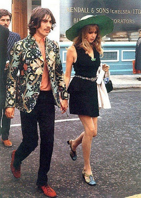george harrison and pattie boyd, 1960s