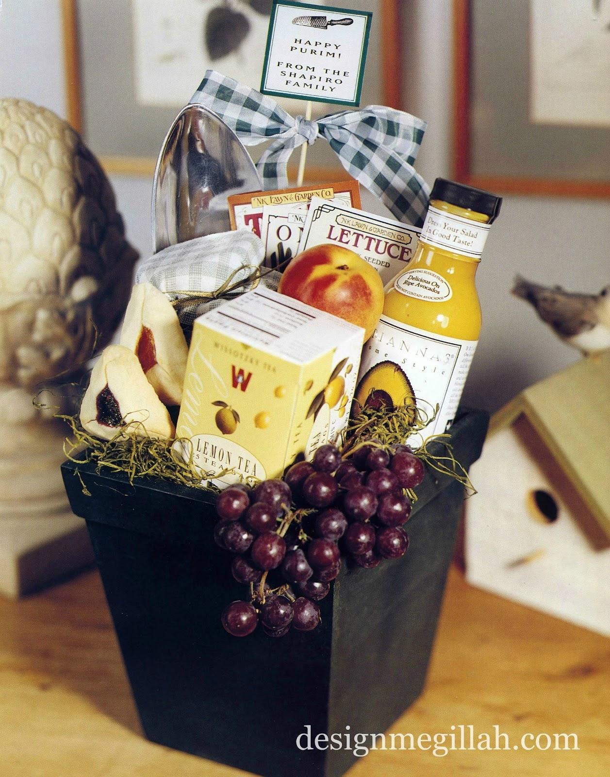 design megillah  purim gift baskets