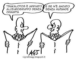 Tsakalotos, Varoufakis, Tsipras, grecia, grexit, satira, vignetta