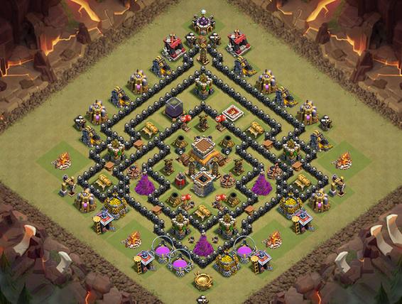 Clash Of Clan 8 Town Hall War Base