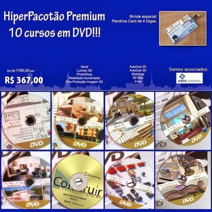HIPERPACOTÃO PREMIUM 10X1 - 69% OFF!! CURSOS EM DVD COM CERTIFICADOS! SOMOS ASSOCIADOS À ABED!!