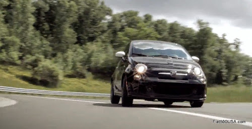 Fiat 500 Abarth Automatic on racetrack