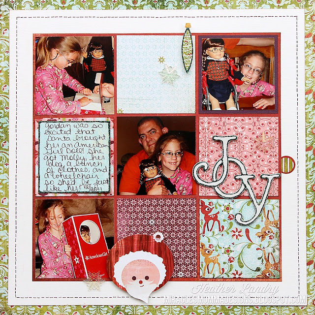 American Girl_Christmas Scrapbook Page