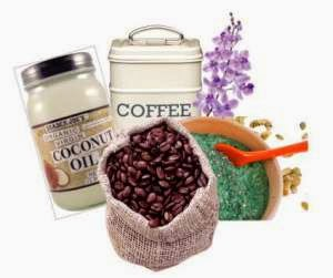 Coffee, Coconut Oil and spitulina exfoliator