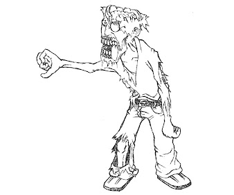 #12 Zombie Coloring Page