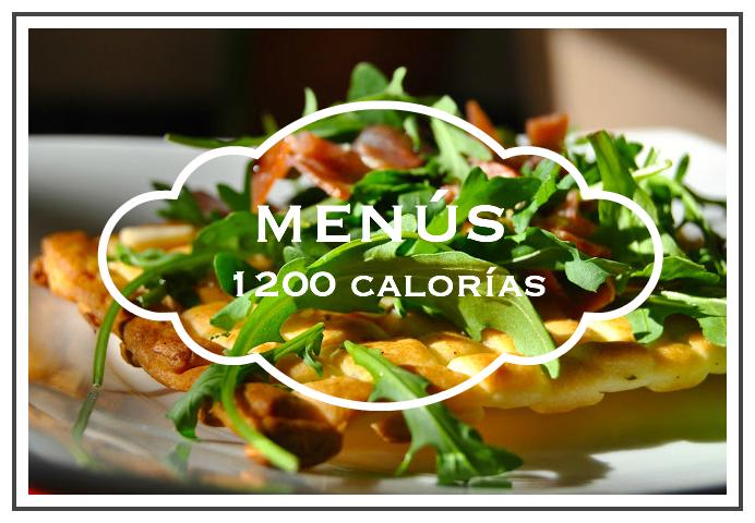 menús 1200 calorías