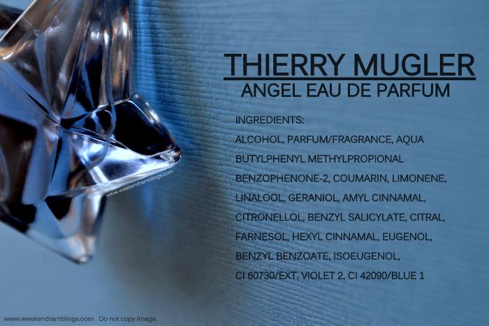 Angel Thierry Mugler Eau de Parfum Ingredients Designer Perfumes Fragrances for Women EDP Blog Reviews