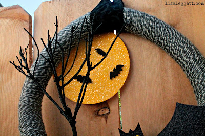 Batty Halloween Wreath by Lisa Leggett