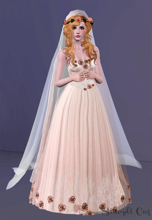 Sims 3 - MAGNIFIQUE Robe de Mariée GRATUITE - GORGEOUS Wedding Dress