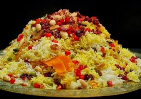أرز مفلفل بالطريقة الإيرانية
