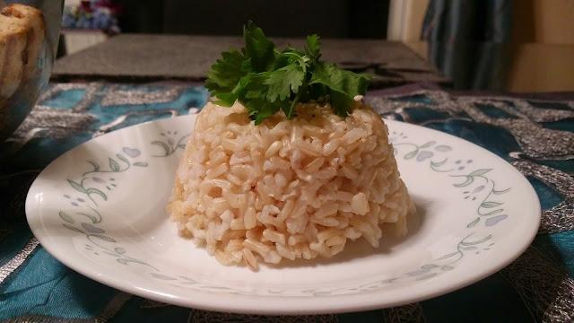 Sesame flavored grilled tofu & veggies with brown riceCurries & Gravies International Cuisine