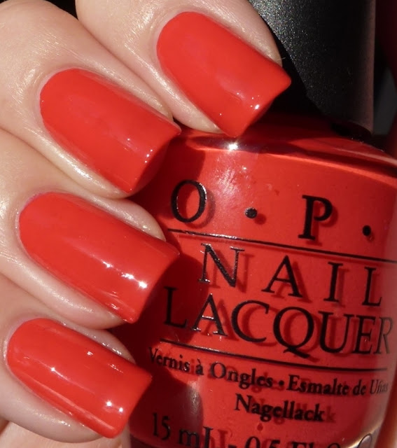 Red Lights Ahead... Where?, OPI swatch