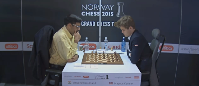 Norway Chess 2015. Anand - Carlsen