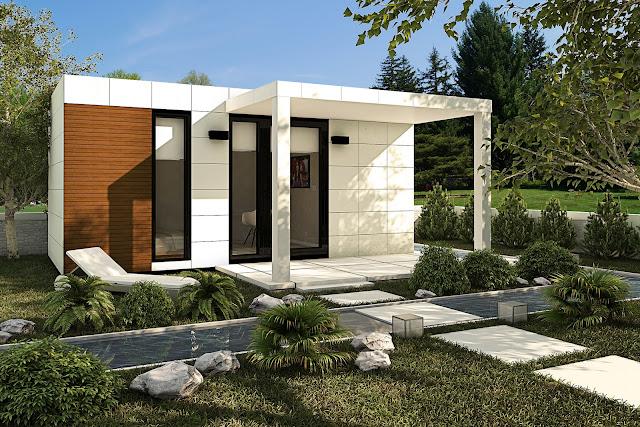 Módulo para jardín - Suite 18 Exterior - Resan Modular