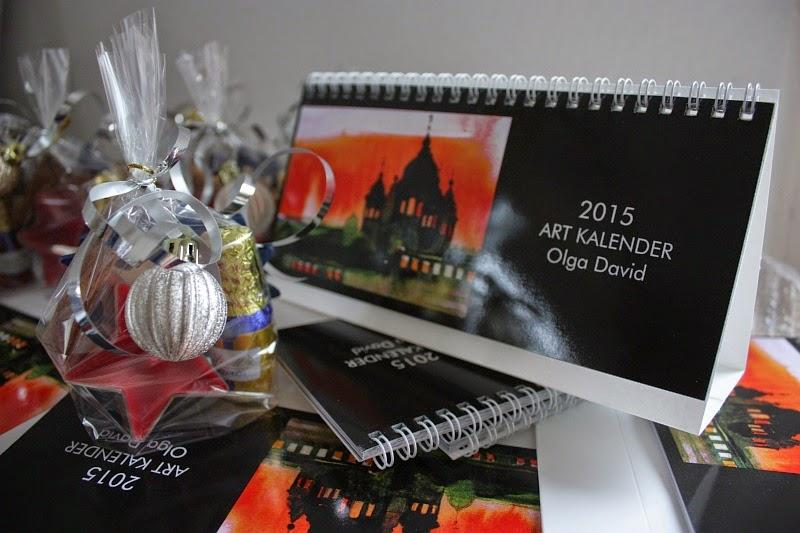 Geschenk Tischkalender 2015 mit den Bilder von Olga David
