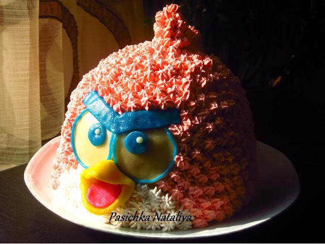 Торт украшенный сливками фото животные