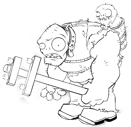 Раскраски зомби из зомби против растений 33