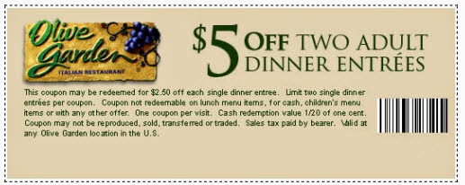 free printable coupons olive garden coupons