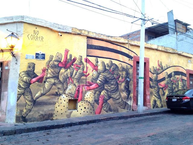 Street Art By JAZ in Queretaro Mexico For Board Dripper StreetArt / Graffiti Festival.