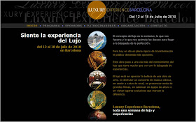 Elaboracin del texto de la web Luxury Experience Barcelona