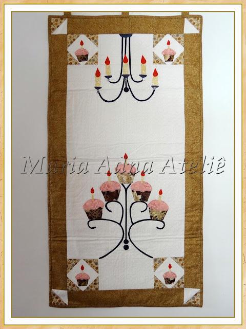 Panô patchwork, panô apliquê, Panô celebration, Publicado em revista, Maria Adna, Maria Adna,