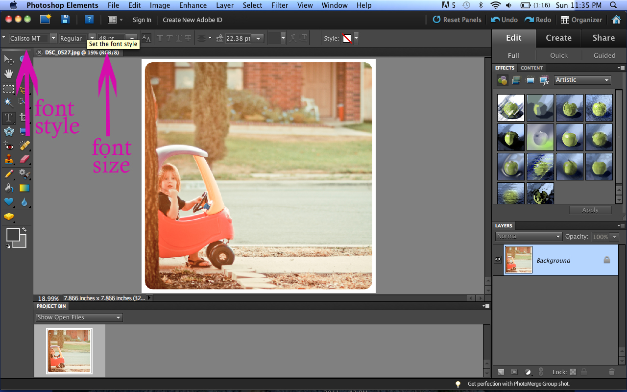 Tutorial how to put text on a picture using photoshop elements now youre ready to type simply click your cursor wherever you want your text on the picture and start typing you can move your text around once you type baditri Choice Image