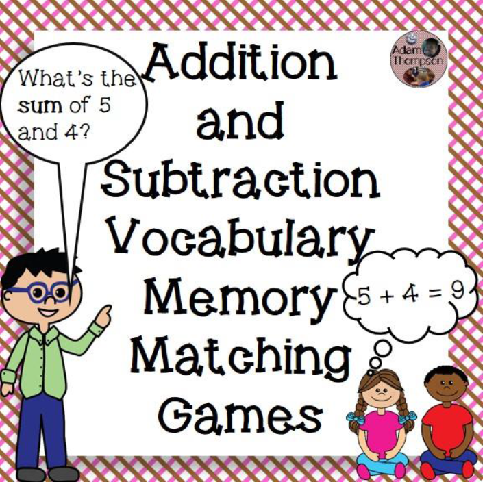 https://www.teacherspayteachers.com/FreeDownload/Addition-and-Subtraction-Vocabulary-Memory-Matching-Game-1601491