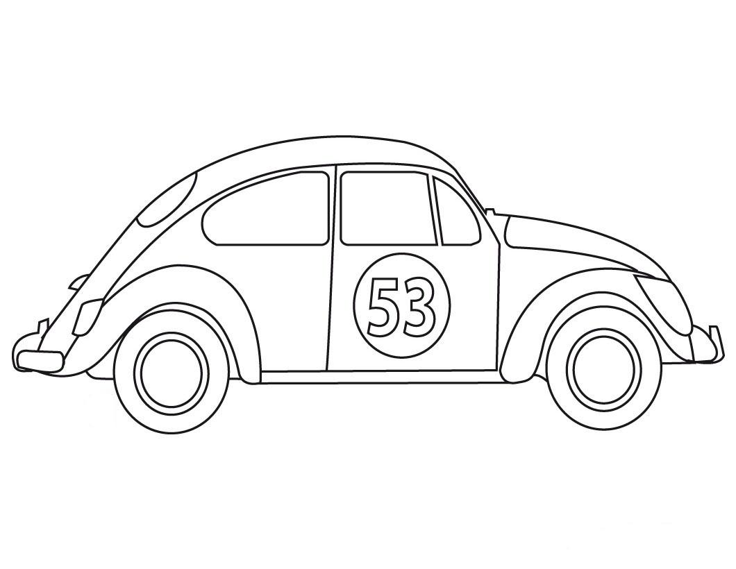 Dibujo de Carro Pelicula Herbie para Colorear y Pintar - Dibujo Views