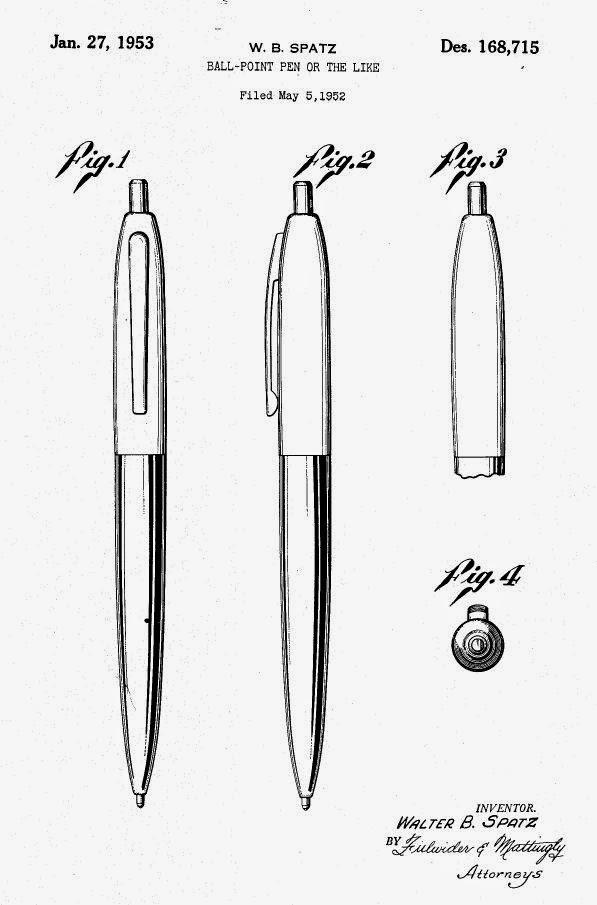 The desgin of the fist pen