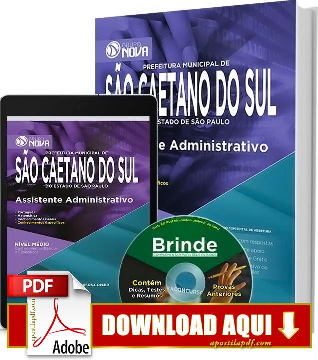 Apostila Prefeitura de São Caetano do Sul 2015 Assistente Administrativo PDF Download Grátis