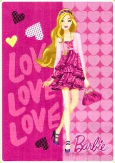 Jual Selimut Rosanna Soft Panel Blanket Barbie Love