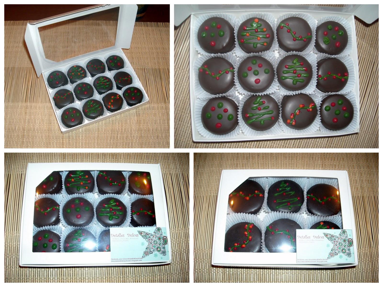 Detalles dulces cajas de alfajores navide os no disponible - Cajas con motivos navidenos ...