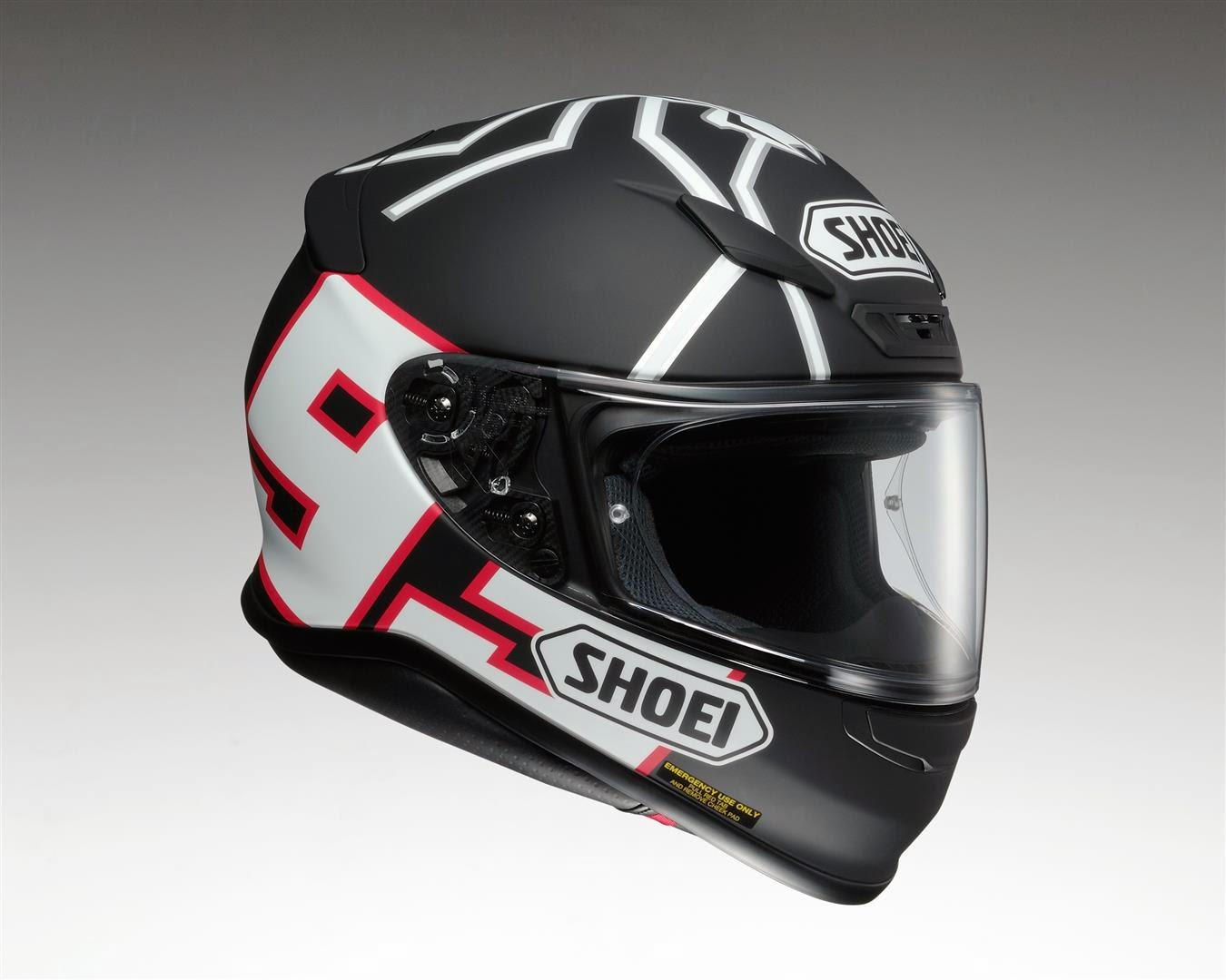 racing helmets garage shoei nxr replica marquez test