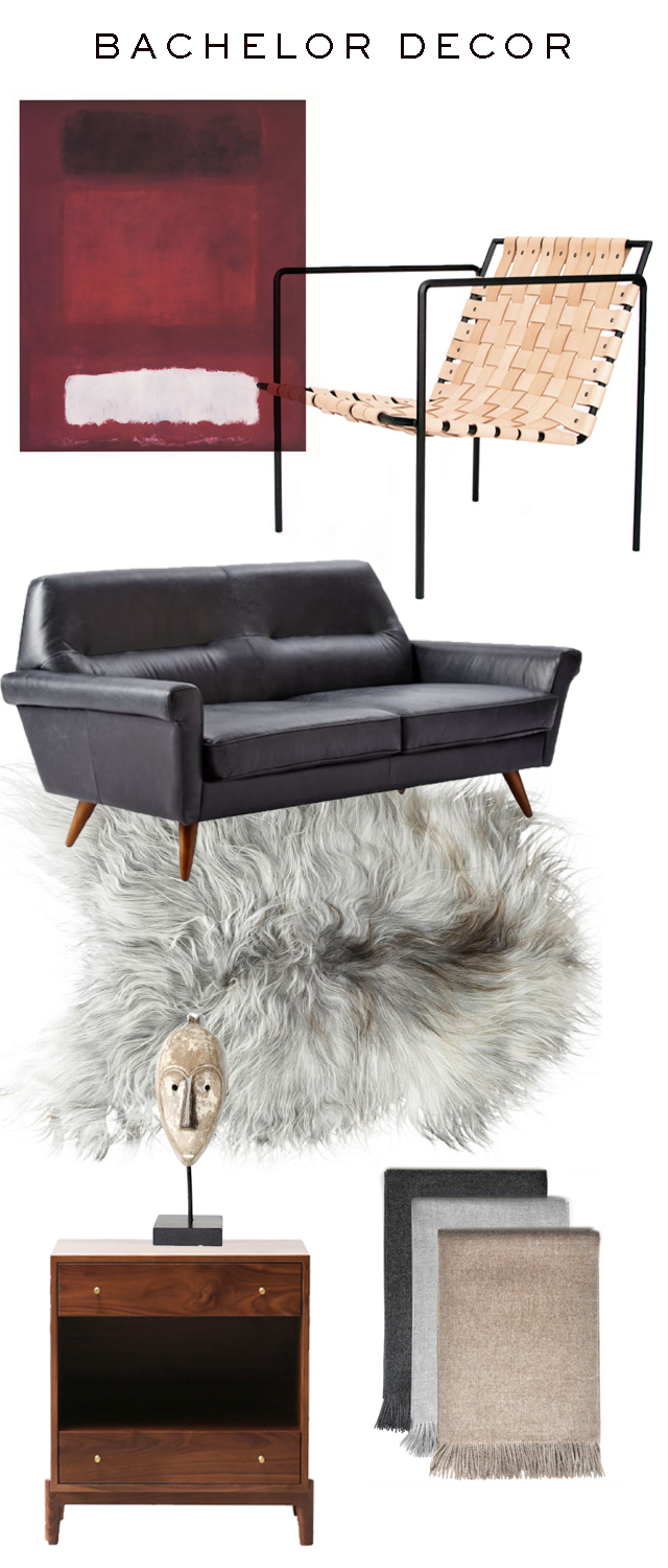The peak of tr s chic bachelor decor for Bachelor decoration