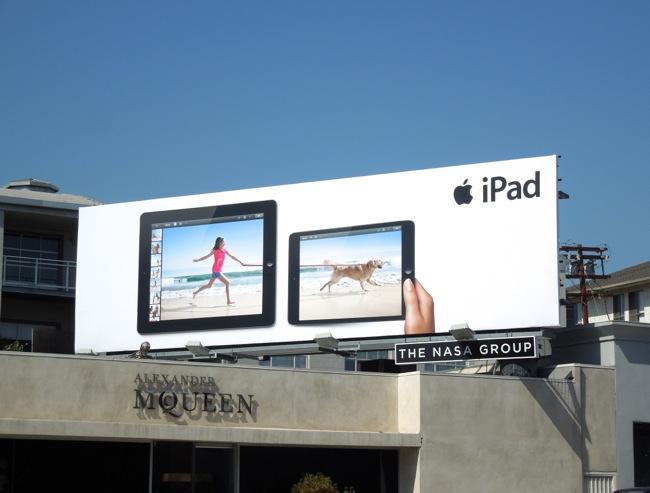 iPad beach retriever billboard
