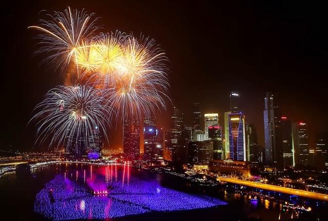 Fuegos Artificiales, año nuevo 2014, Singapur