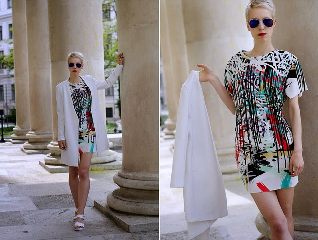 Zara 2014 Spring Urban Graffiti Art Dress